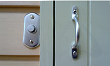 Finish off with brushed chromeel door furniture