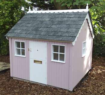 Painted Cottage with Cedar shingle roof